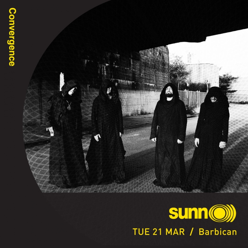 SUNN O))) to perform at The Barbican, London @ Convergence Festival 21 March 2017