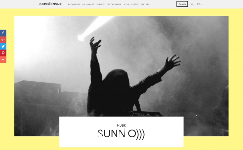 SUNN O))) to perform at Ruhrtriennale, in Bochum DE 3rd September 2016