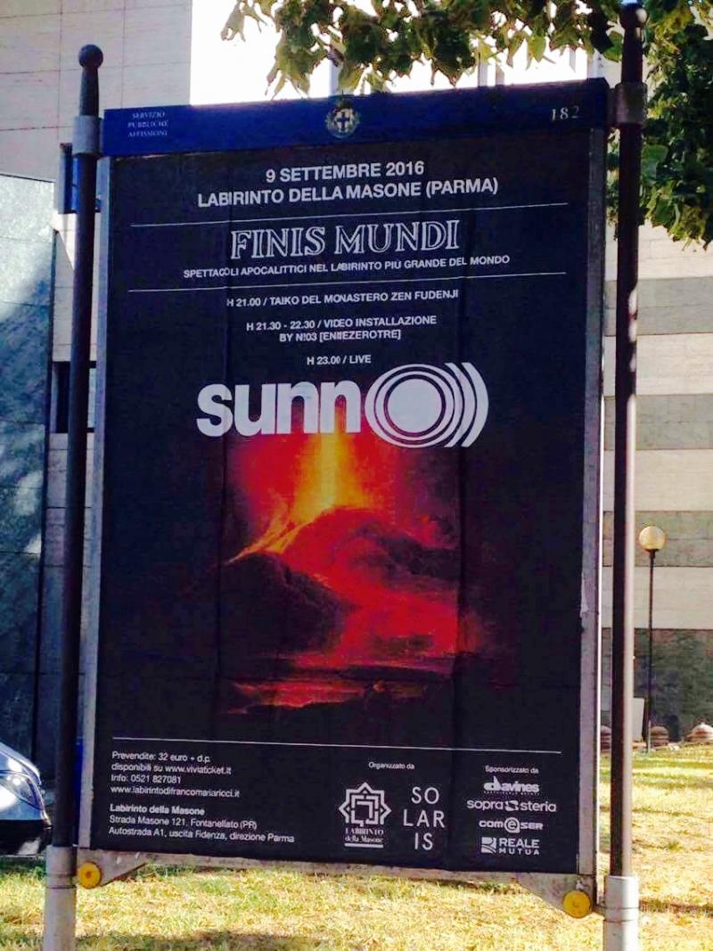 SUNN O))) Labarinto Della Masone, Parma concert 9 September