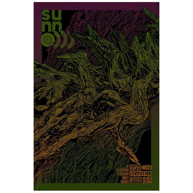 sunn O))) Levitation Festival poster