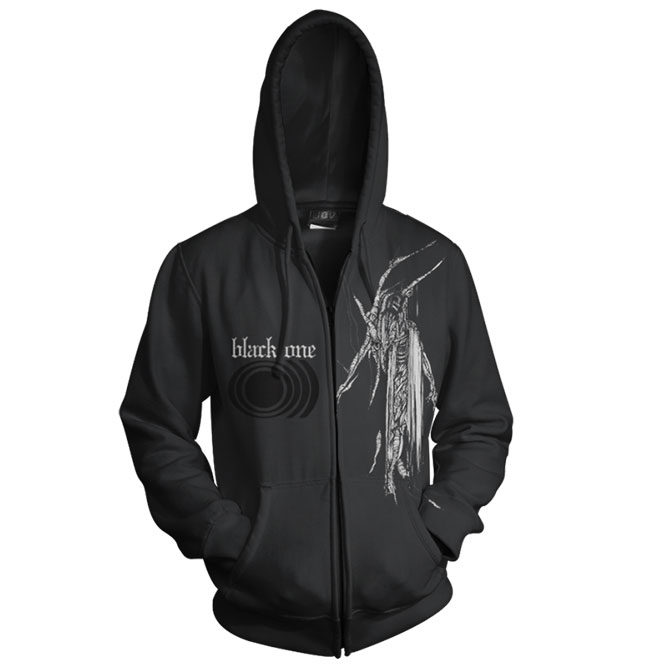 SUNN50-Black One Zip UP Hoodie